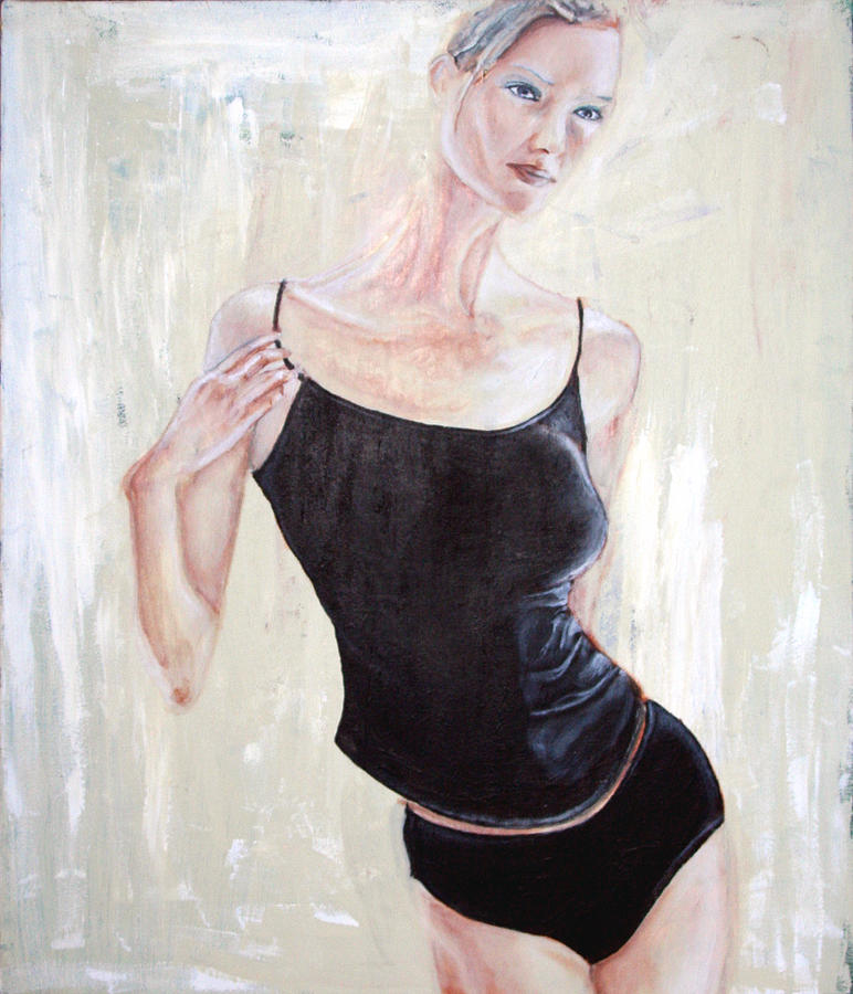 Acrylic On Canvas Painting - Woman by Keith A Link