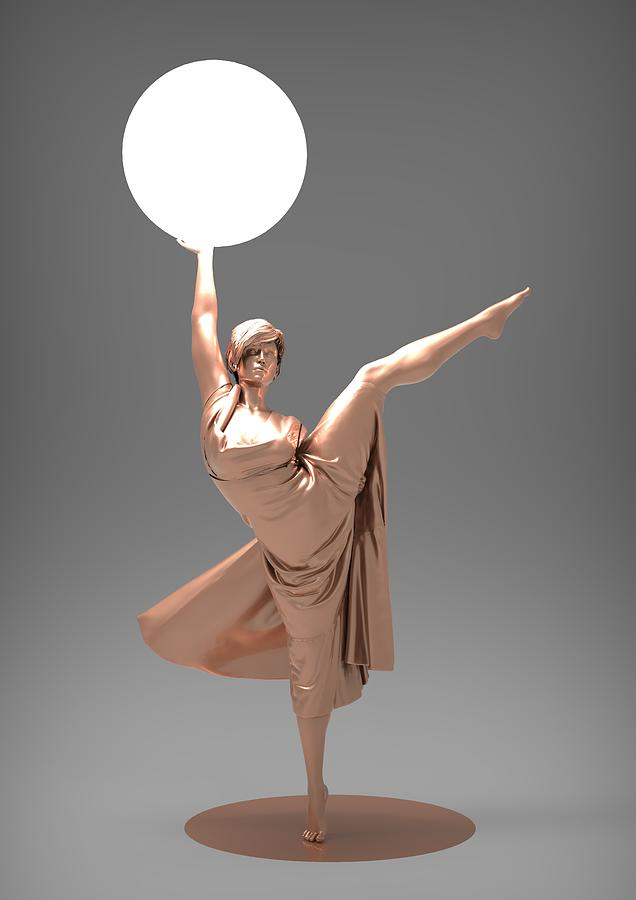 Woman Digital Art - Woman Lamp Number Three by Joaquin Abella