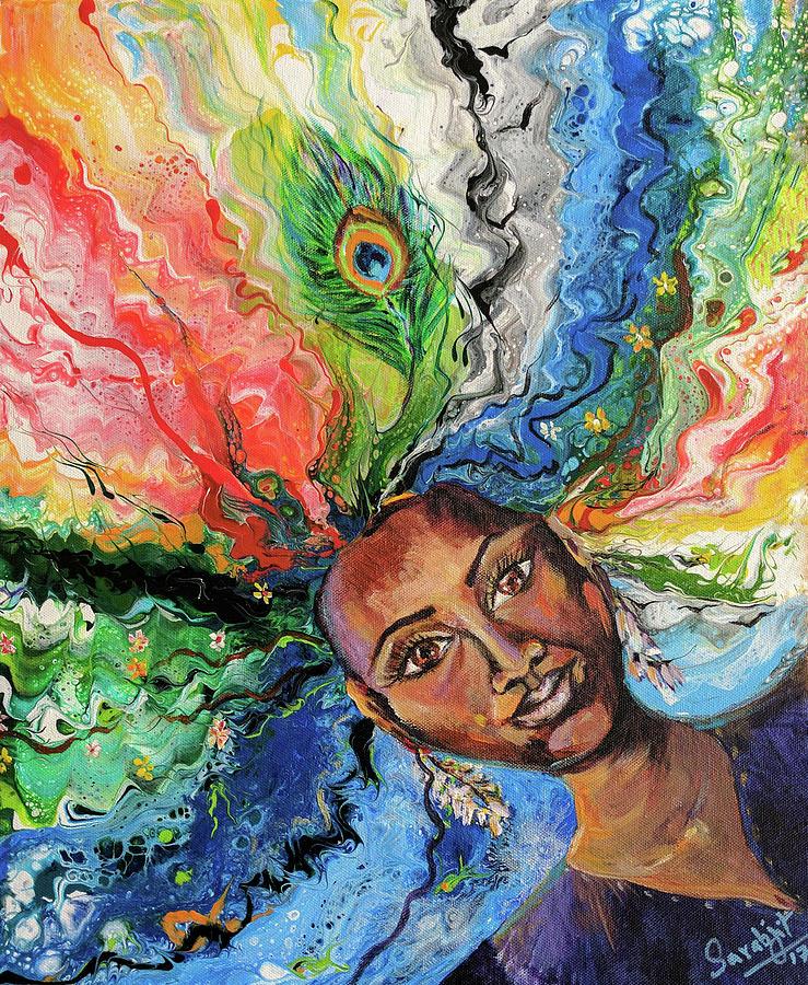 Woman of elements by Sarabjit Singh