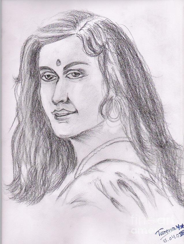 Indian Beauty Painting - Woman Of India by Tanmay Singh