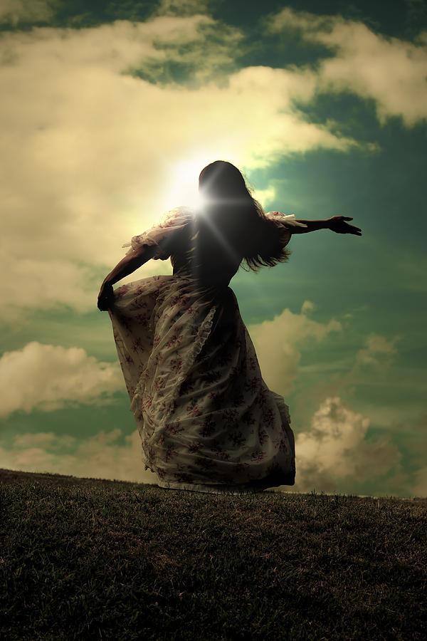 Female Photograph - Woman On A Meadow by Joana Kruse