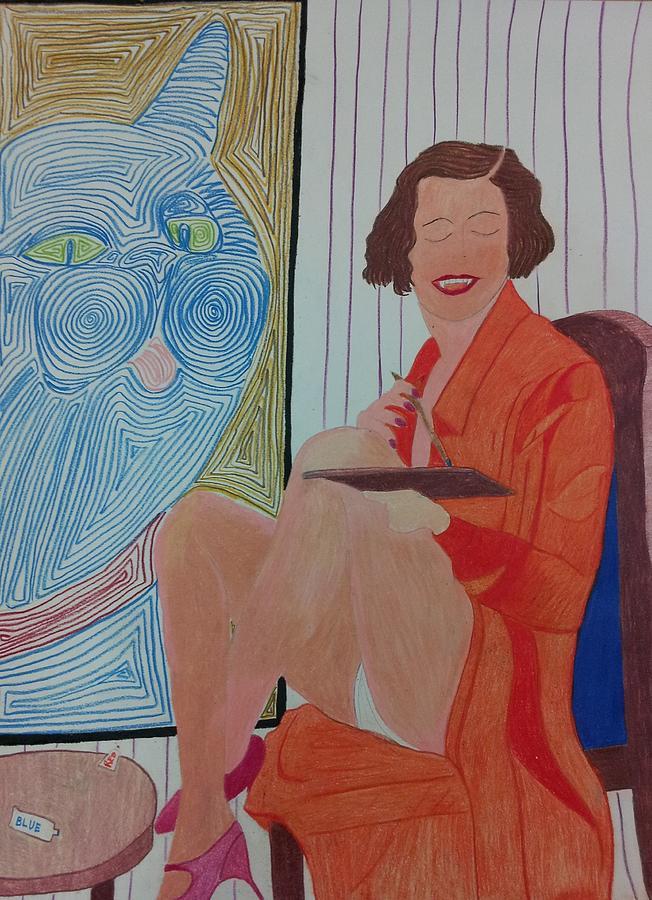Woman Painting Drawing