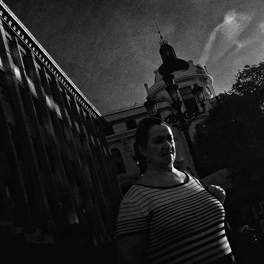 Madrid Photograph - #woman #people #architecture #lowkey by Rafa Rivas