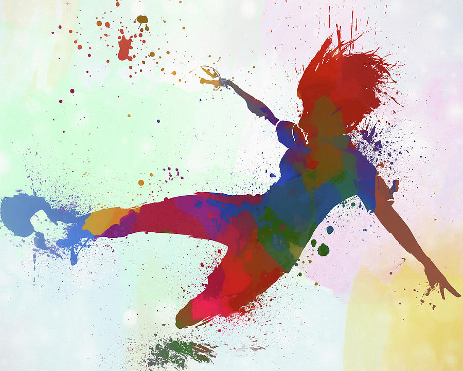 Woman Playing Soccer Painting