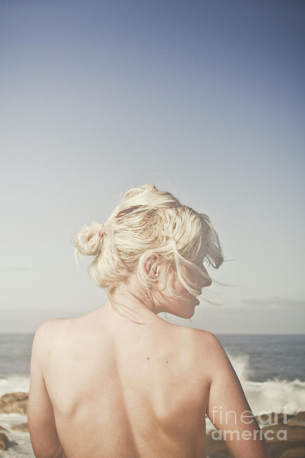 People Photograph - Woman Relaxing On The Beach by Jorgo Photography - Wall Art Gallery