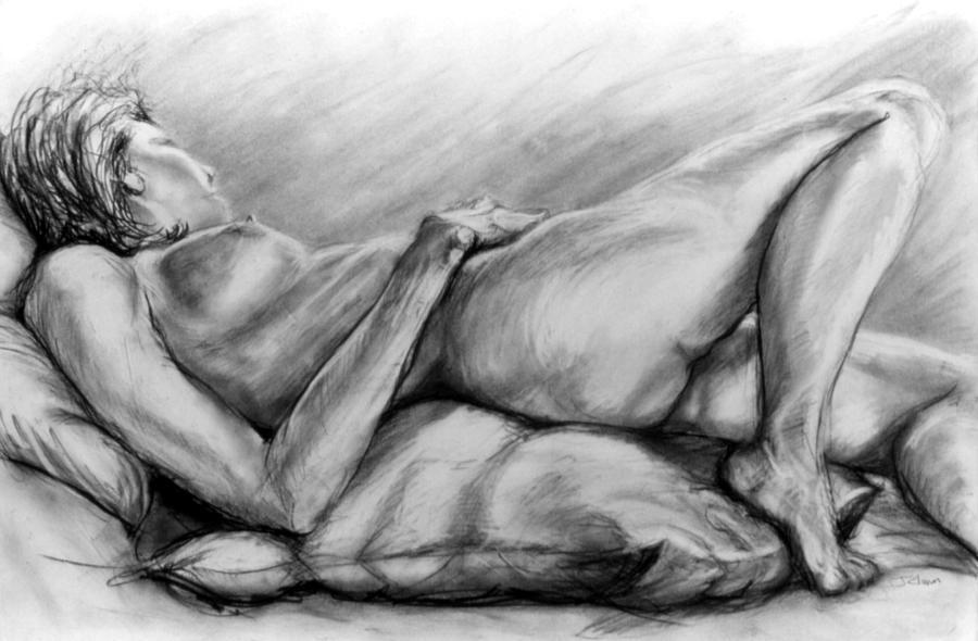 Woman Drawing - Woman Resting by John Clum