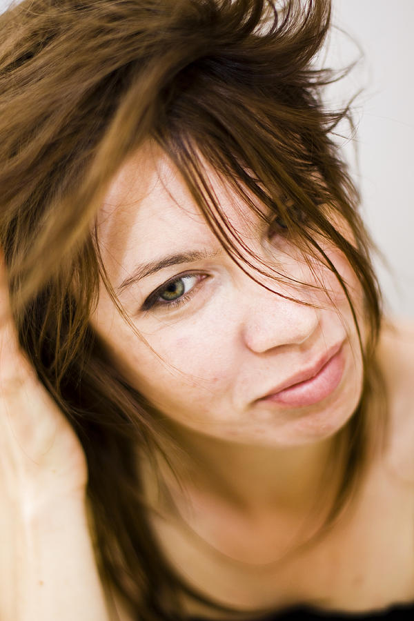Attractive Photograph - Woman Shaking Her Hair by Gabor Pozsgai