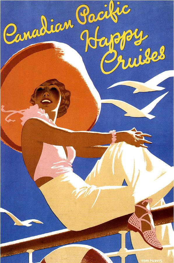 Woman Painting - Woman Sitting On A Cruising Ship by Long Shot