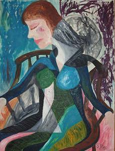 Woman Painting - Woman by Spencer Fyfe