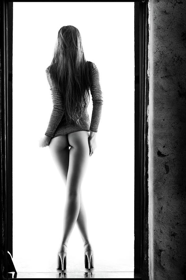 Woman Photograph - Woman Standing In Doorway by Johan Swanepoel