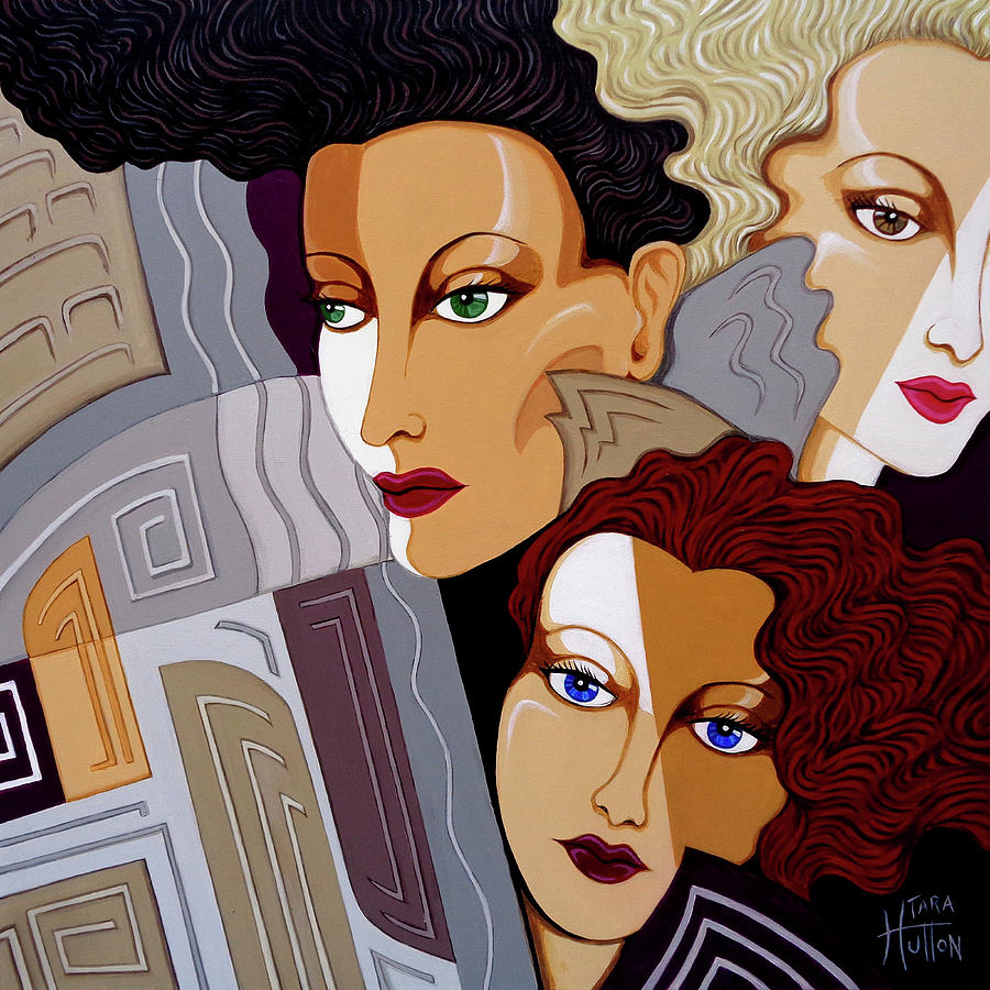 Art Deco Painting - Woman Times Three by Tara Hutton