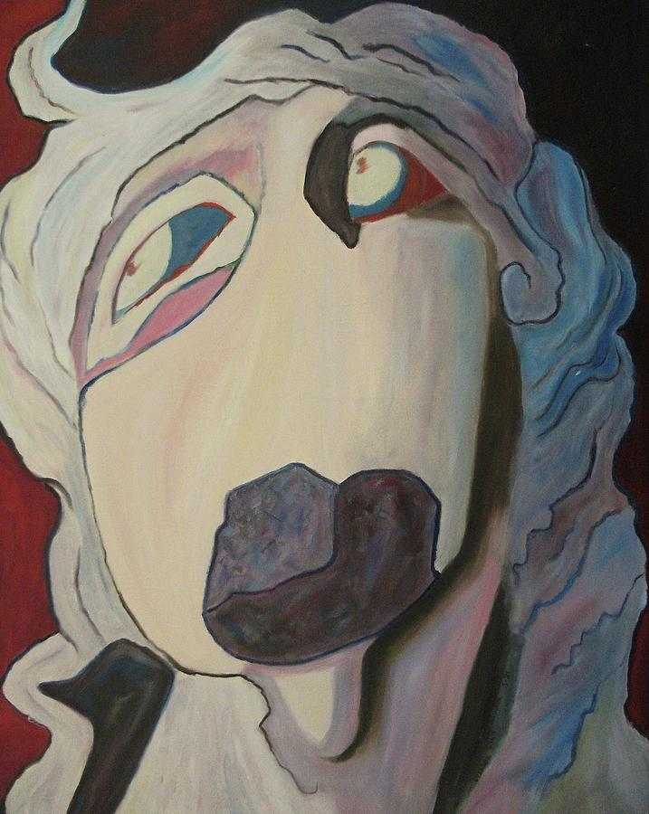 Abstract Painting - Woman Unable To Communicate by Suzanne  Marie Leclair
