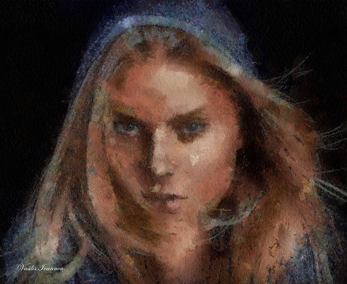 Woman Digital Art by Vasilis Ioannou