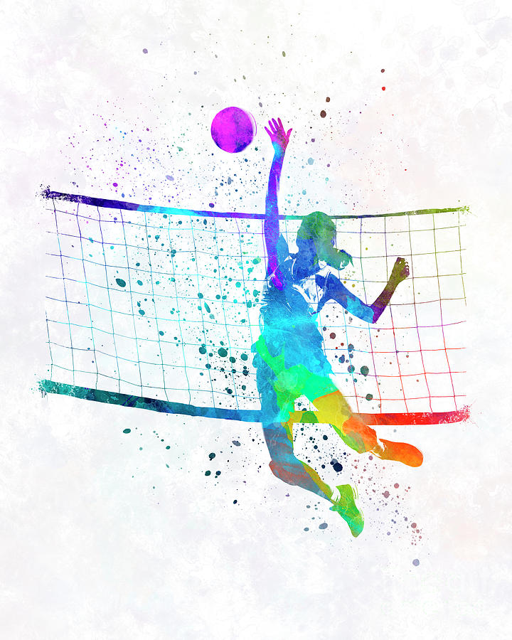 Woman Volleyball Player In Watercolor Painting by Pablo Romero on volleyball drawing ideas, volleyball motivational ideas, creative volleyball ideas, volleyball locker decorations, volleyball treat bag ideas, volleyball sign ideas, volleyball wall decoration ideas, volleyball planning sheets, volleyball centerpiece ideas, volleyball craft ideas, volleyball high school ideas, volleyball painting ideas, volleyball home ideas, volleyball party ideas, volleyball scrapbook ideas, volleyball cupcakes ideas, volleyball cookies, volleyball valentine ideas, volleyball gift ideas, volleyball candy ideas,