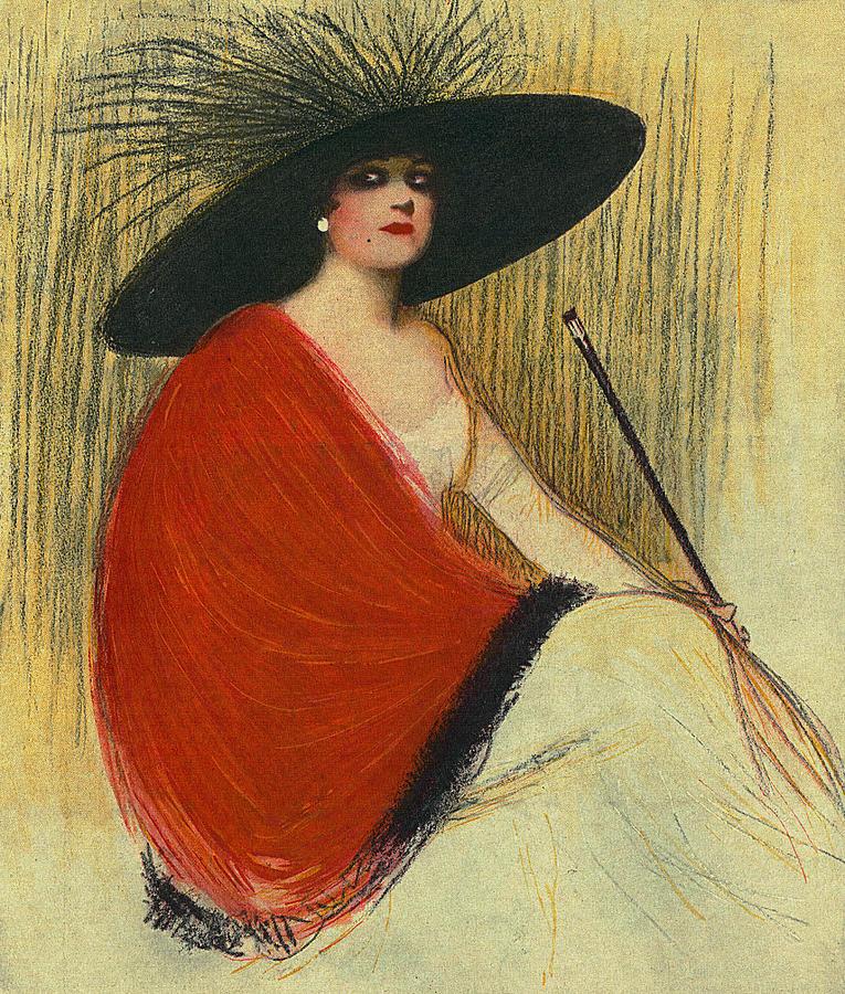 Woman Wearing Hat Digital Art - Woman Wearing Hat by Robert G Kernodle
