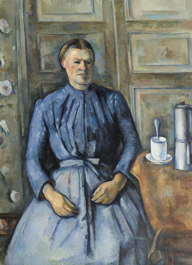 Cezanne Painting - Woman With A Coffeepot  by Paul Cezanne