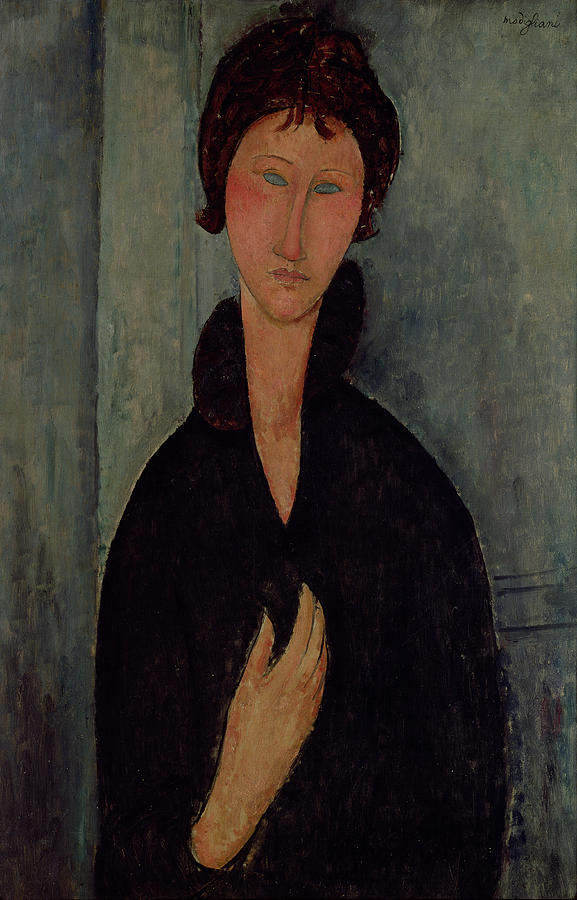 Woman Painting - Woman With Blue Eyes by Amedeo Modigliani
