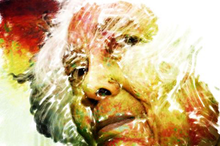 Woman Digital Art - Woman With White Hair by James VerDoorn