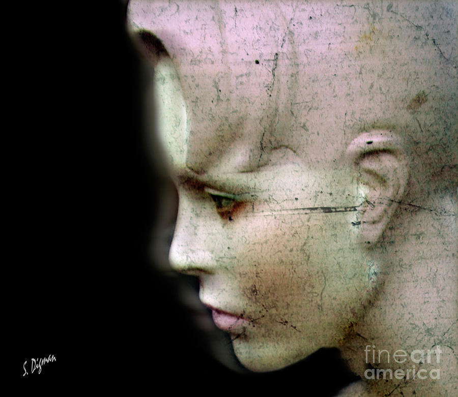 Surreal Photograph - Woman Written In Stone  by Steven Digman