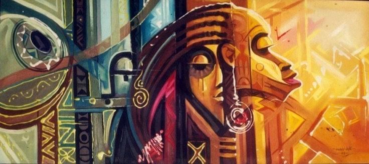 Woman Painting - Womanhood Agba Bu Mma Nwanyi by Eziagulu Chukwunonso