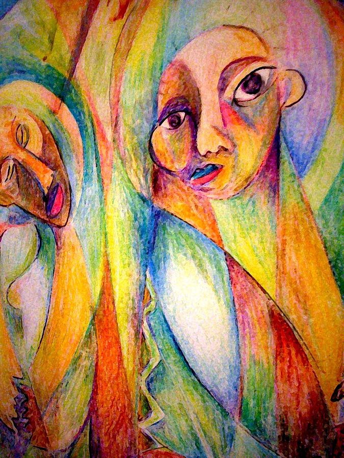 Cubism Painting - Womans Rites by Robert Daniels