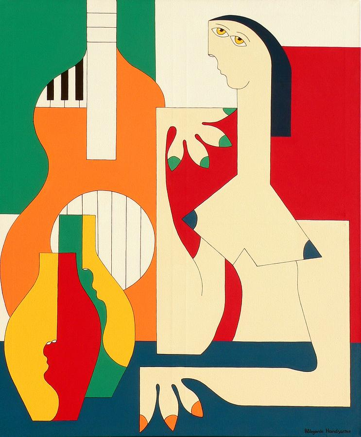 Women And Music Painting by Hildegarde Handsaeme