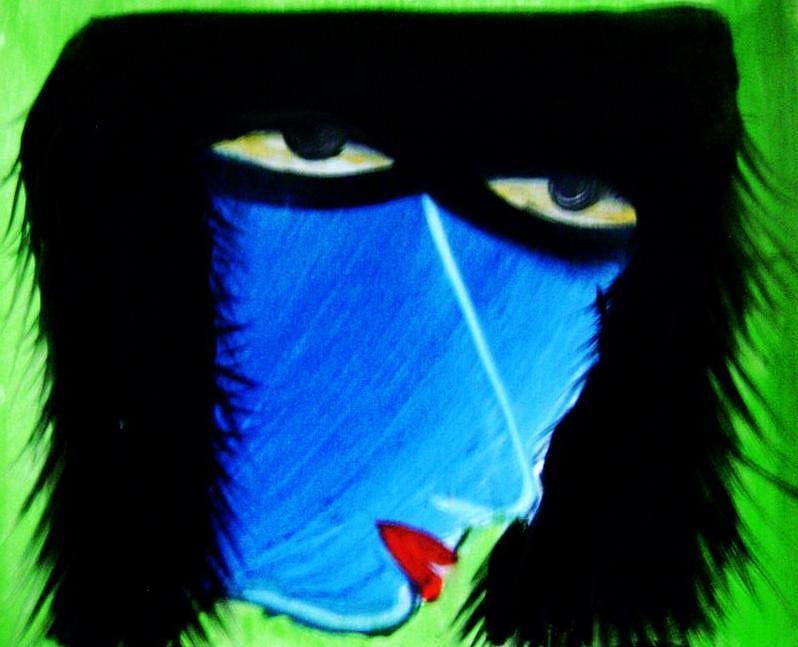 Women Art Painting by Sourav Baur