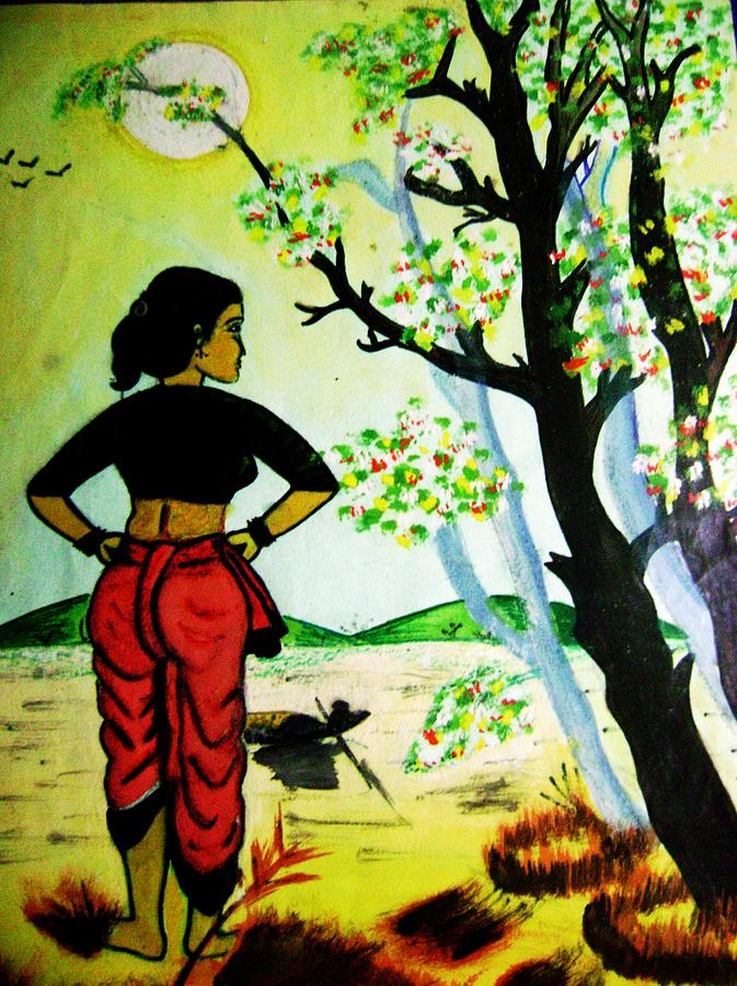 Women Art3 Painting by Sourav Baur