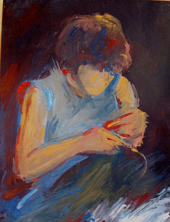 Portrait Painting - Women At Work by Vasile Ion