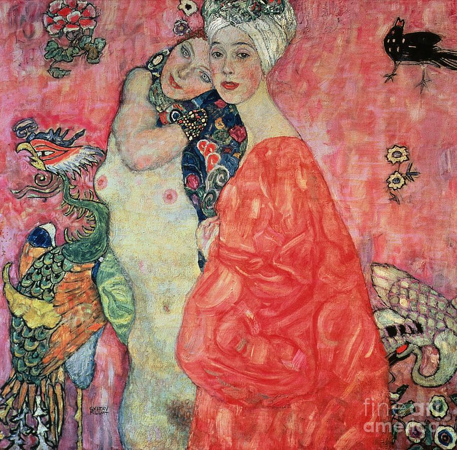 Women Painting - Women Friends by Gustav Klimt