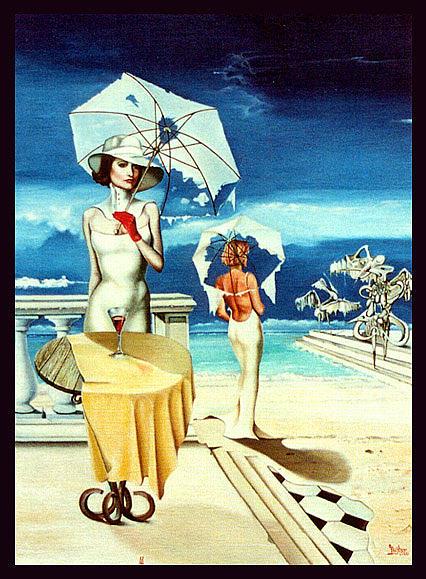 Women Painting by Gunter Hujber