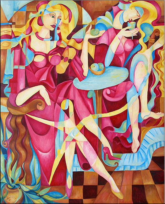 Women Painting - Women Party by Ana Covaci
