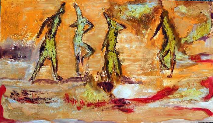 Women Painting - Women by Soledad  Fernandez