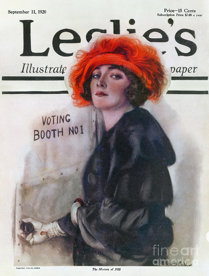 1920 Photograph - Women Voting, 1920 by Granger
