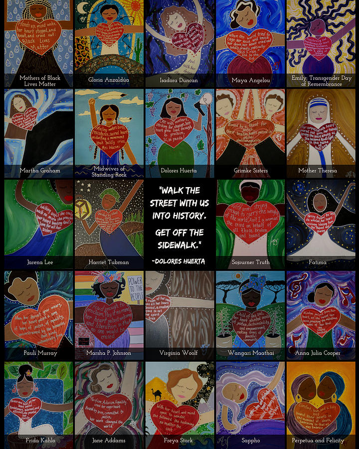 Holy Painting - Womens History Month by Angela Yarber