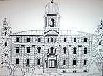 Limestone Drawing - Womens Penitentiary In Black And White Kingston On by Suzanne Berton
