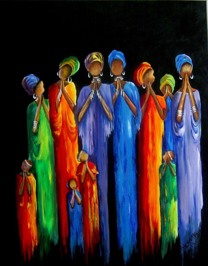 Women 39 S Prayer Meeting Painting By Marietjie Henning