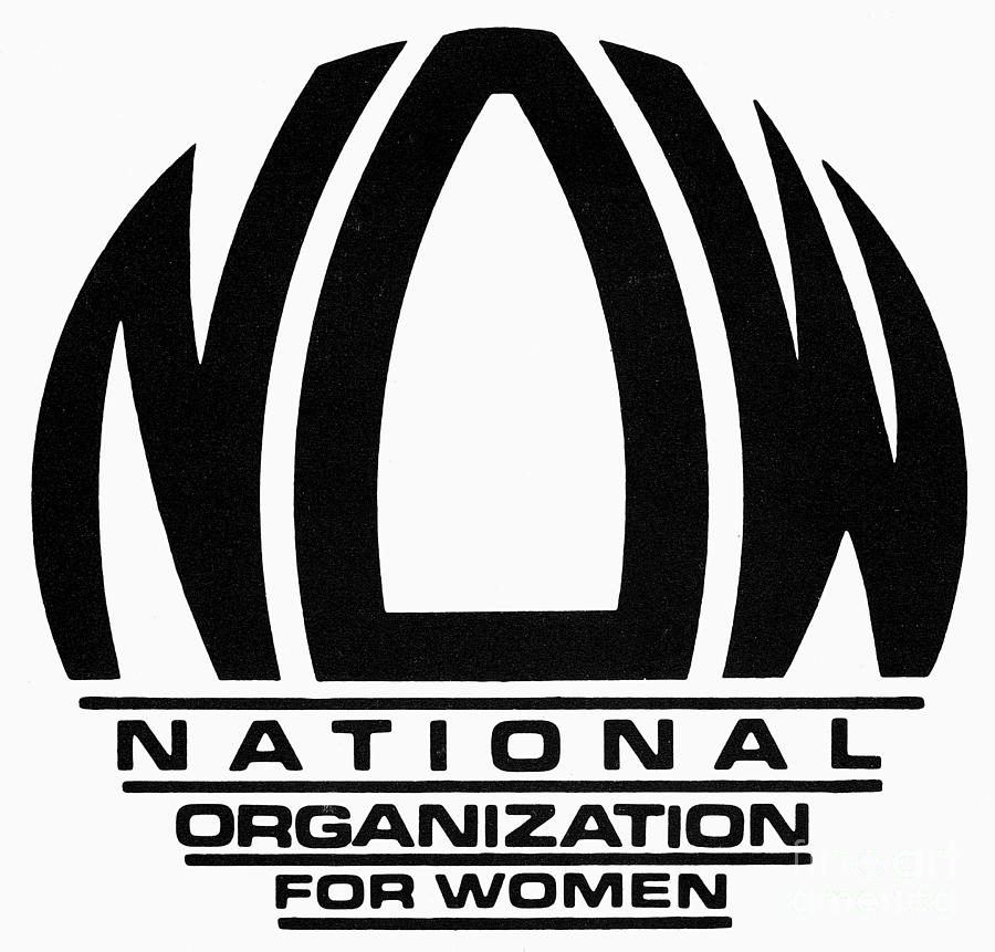 1966 Photograph - Womens Rights: Now Logo by Granger