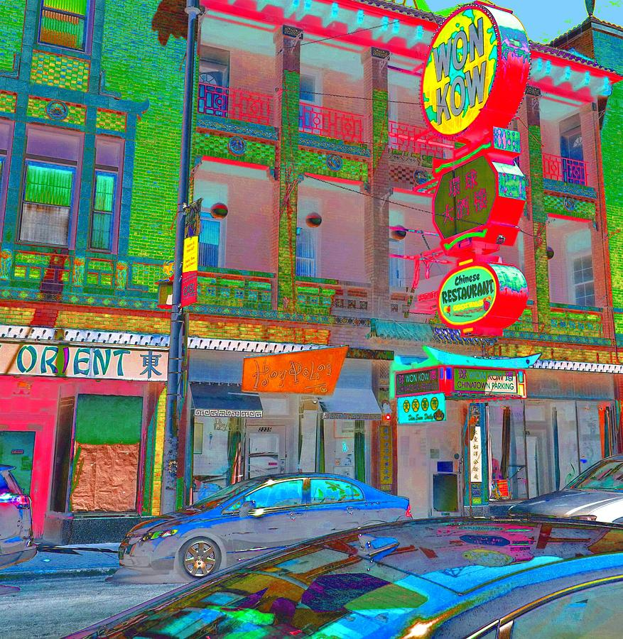 China Town Photograph - Won Kow, Wow 2 by Marianne Dow