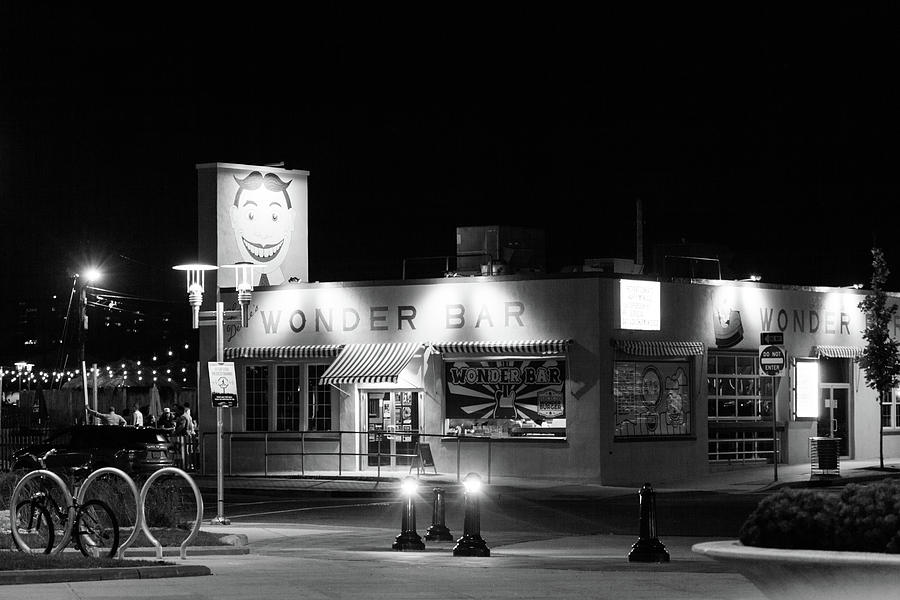 Asbury Photograph - Wonder Bar At Night by Erin Cadigan