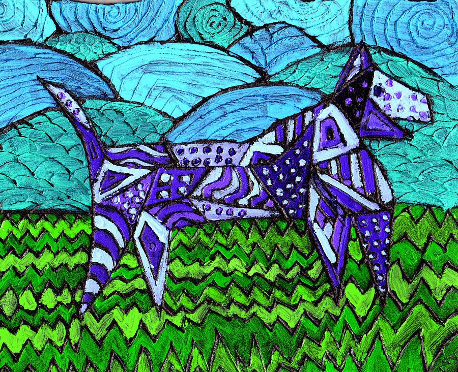 Dog Painting - Wonder Dog by Wayne Potrafka
