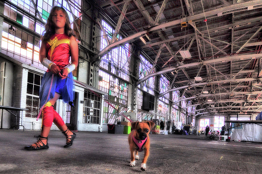 Wonder Girl And Super Pup Photograph by Frederick Redelius