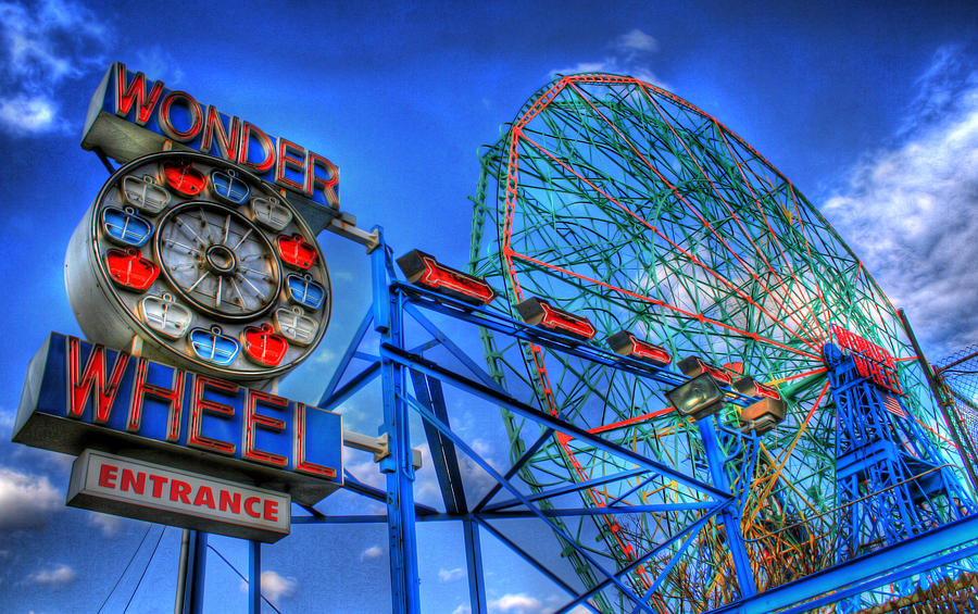Wonder Wheel Photograph - Wonder Wheel by Bryan Hochman