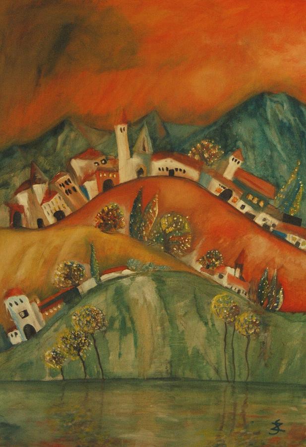 Landscape Painting - Wonderer Trees by Gyorgy Szilagyi