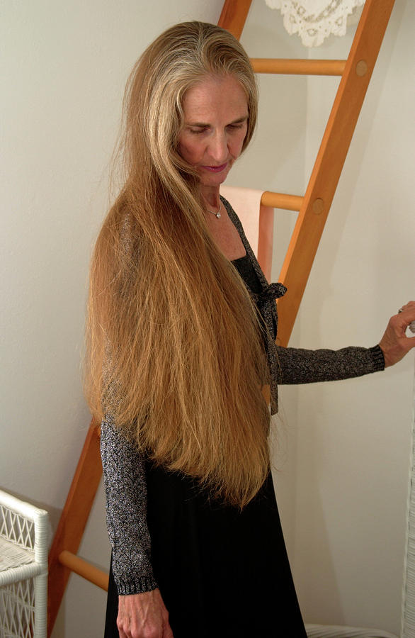 Long Hair Photograph - Wonderful Tonight by Nancy Taylor