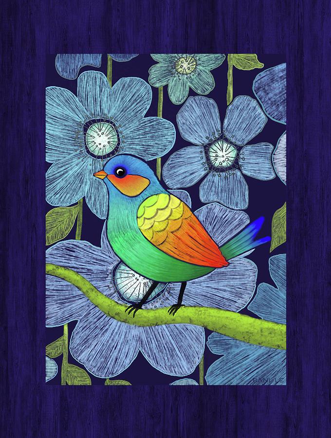 Textile Drawing - Wonderful Tropics by Little Bunny Sunshine
