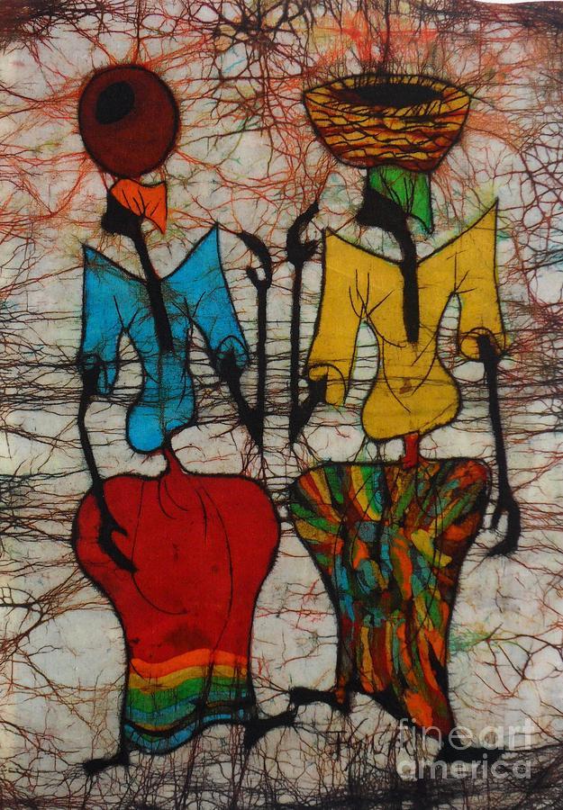 African Painting - Wondering Back by Ellis Tayamika Singano