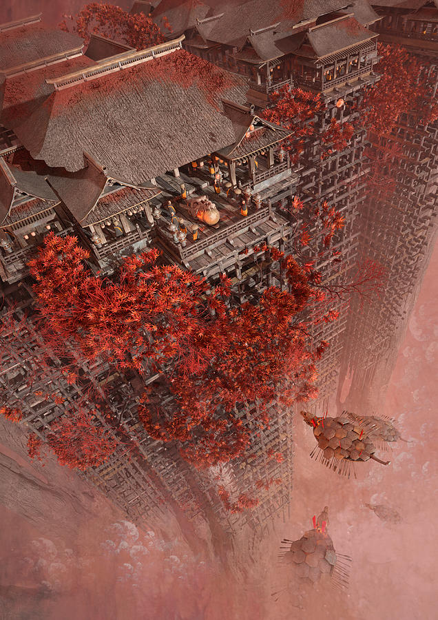 Landscape Digital Art - Wonders Liyomizu by Te Hu