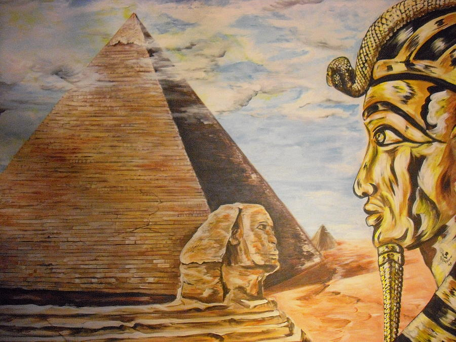 Wonders of egypt painting by donald dunham for Egyptian mural paintings