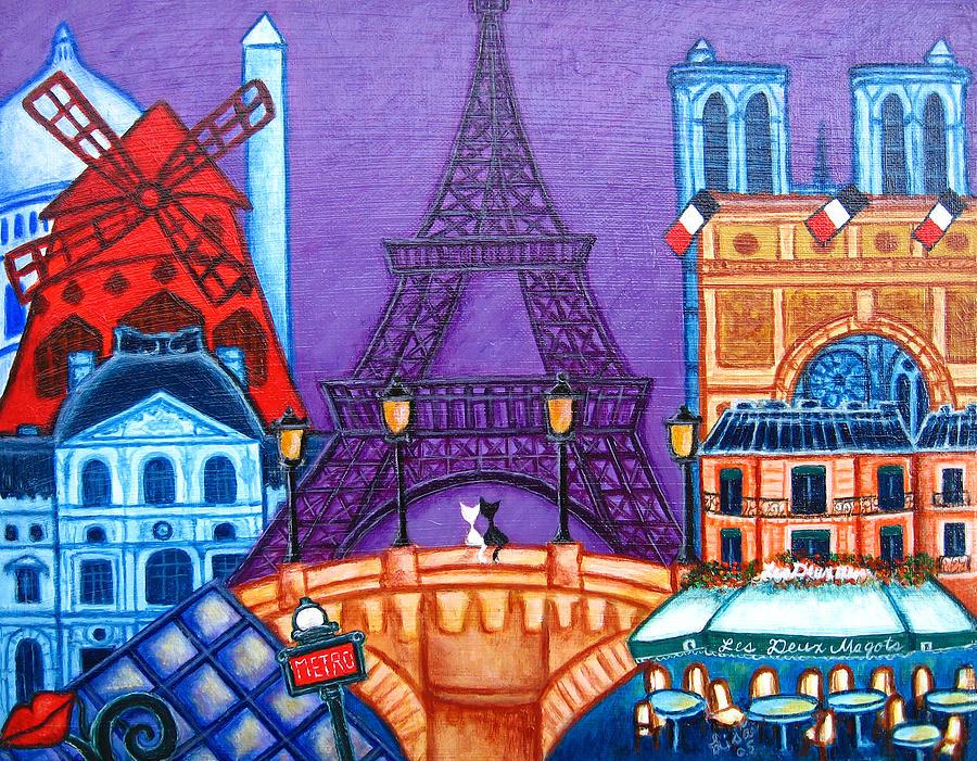 Paris Painting - Wonders of Paris by Lisa  Lorenz